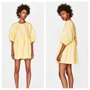 Zara Trafaluc Baby Doll Yellow Romper Dress